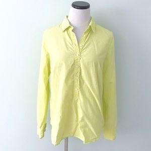 J. CREW Yellow popover button down Shirt
